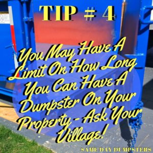 SDD Weekly Dumpster Tips