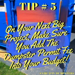 Same Day Dumpster Tips