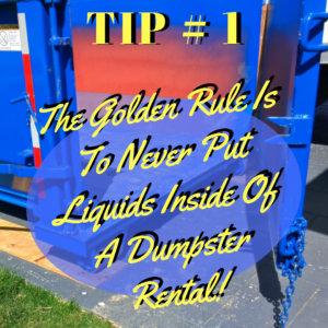 SDD Dumpster Tips