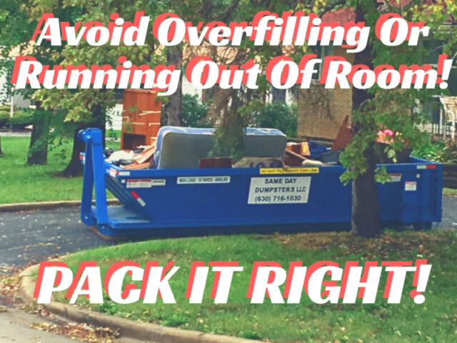 Avoid Overfilling Or Running Out Of Room