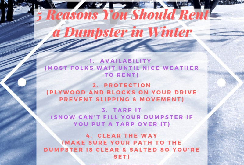Rent a Dumpster in the Winter