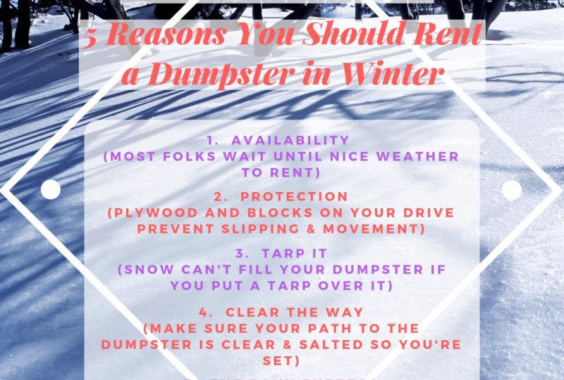 Winter Dumpster Rental