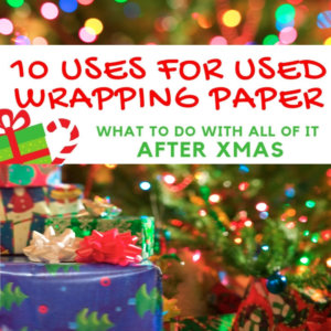 Recycle and Reuse Your Christmas Paper