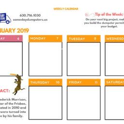 2nd Week of January