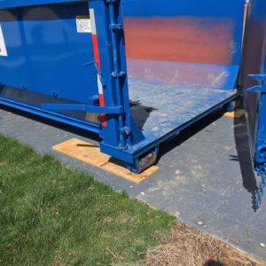Dumpster with Hinged Door