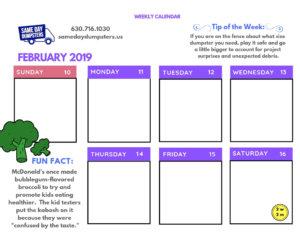 2nd Week of February