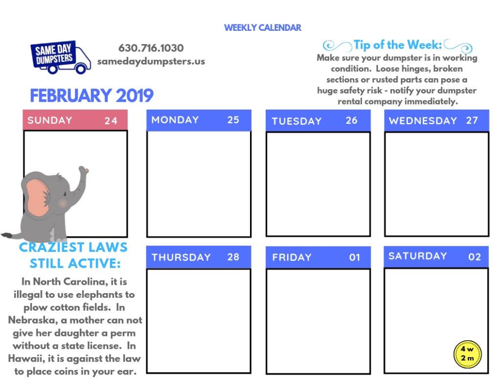4th Week of February