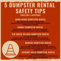 Burr Ridge Dumpster Rental Safety Tips