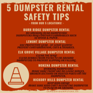 Burr Ridge Dumpster Rental Safety Tips