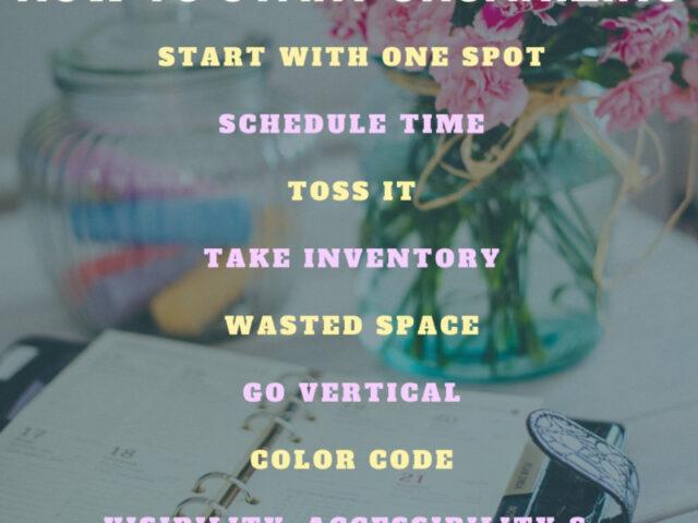 Tips On Organization