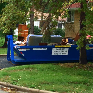 10 Yard Dumpster In Use