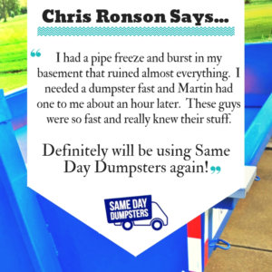 Burr Ridge Dumpster Review