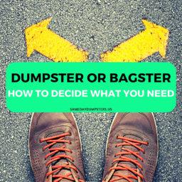 Dumpster Rental or Waste Management Bagster