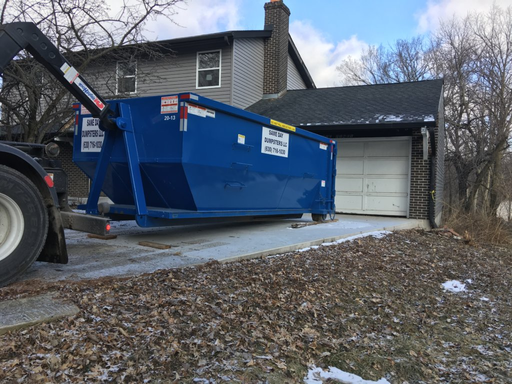 20 Yard Dumpster In Use