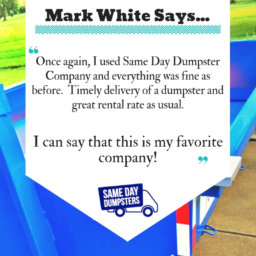 Try Same Day Dumpsters for Yourself!