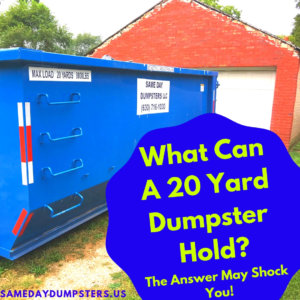 20 Yard Residential and Commercial Dumpster