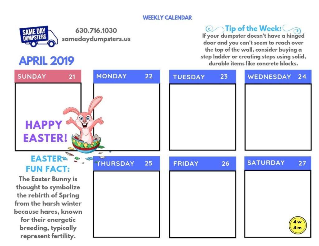 4th Week of April