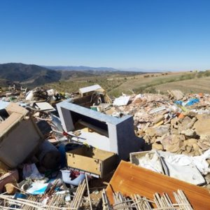 Landfill Cluttered By Furniture
