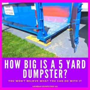 5 Yard Dumpster Rental Near Me