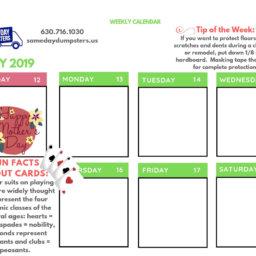Weekly Calendar 4 19 Week 3 Same Day Dumpsters Rental