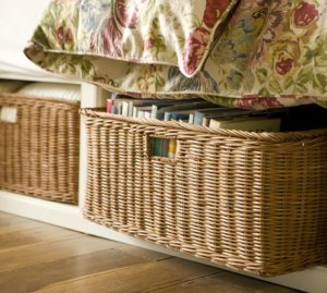 baskets and bins for storage