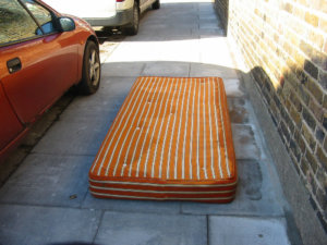 mattress on curb