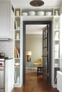 shelves above doorways