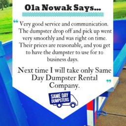 Dumpster Rental Reviews