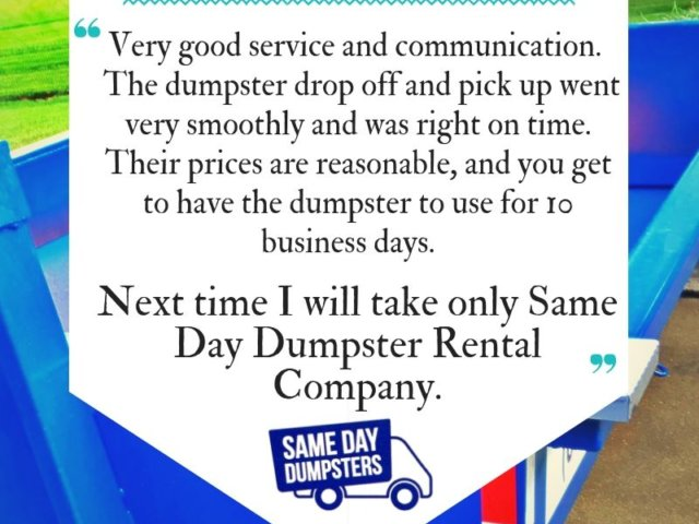 Dumpster Rental Reviews