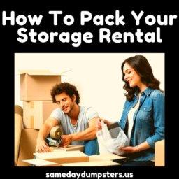 Storage Rental Packing Tips