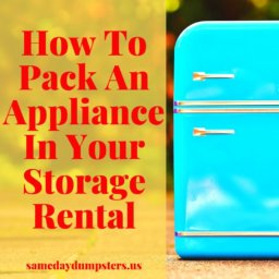 Storing Appliances
