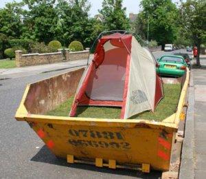 campsite dumpster