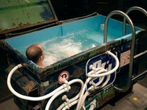 hot tub dumpster