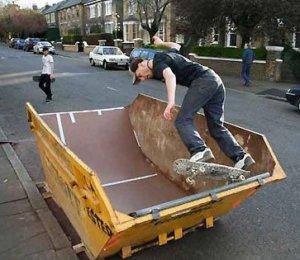 skate ramp dumpster