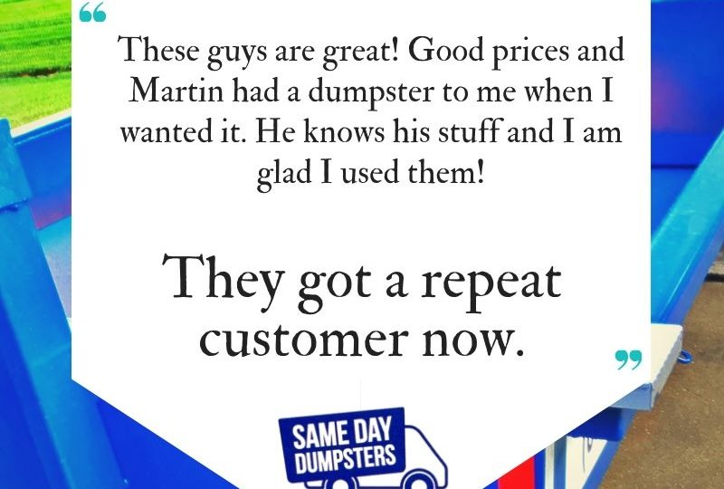 Same Day Dumpsters Rental Reviews