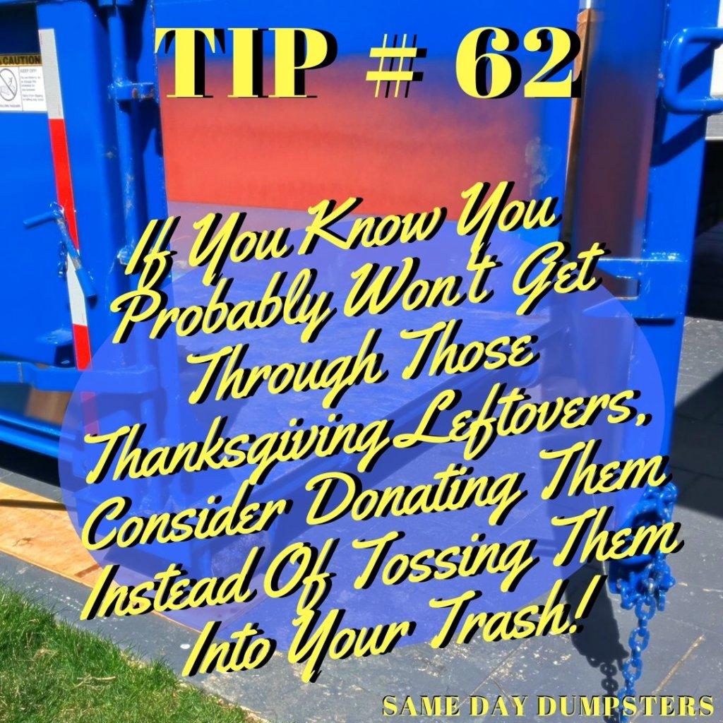 Same Day Dumpster Rental Tips