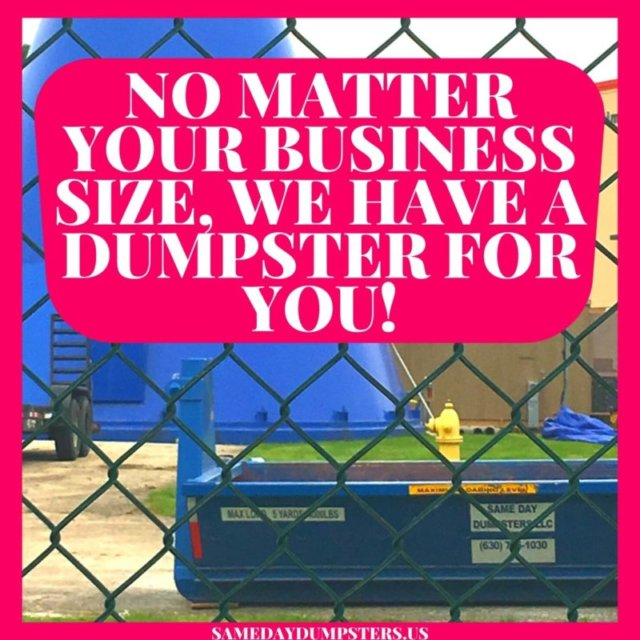 Business Dumpsters From Same Day Dumpsters