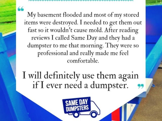 Same Day Dumpster Reviews