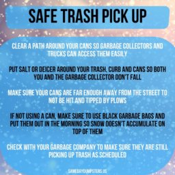 Safe Trash Pick Up