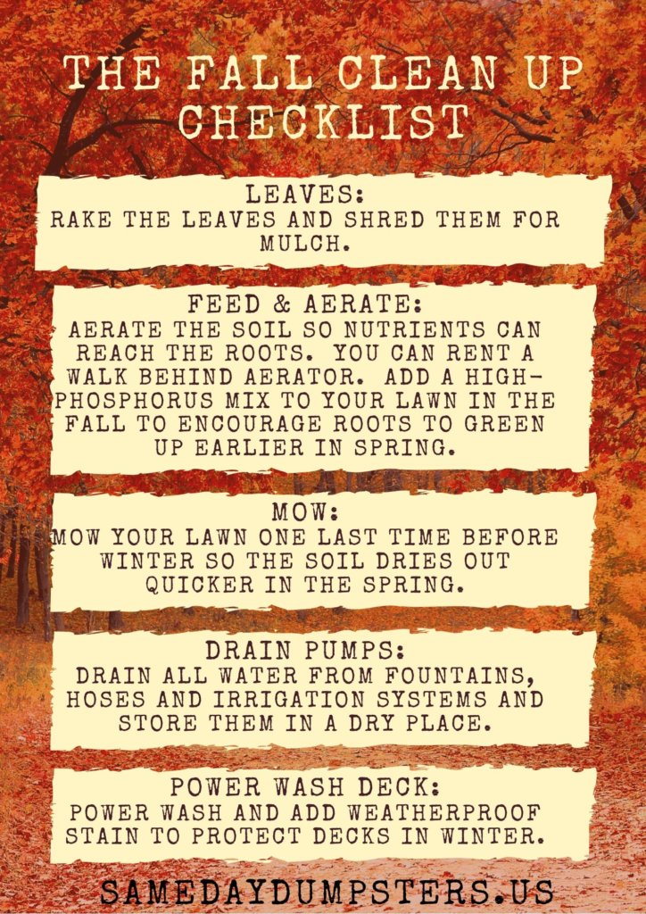 The Fall Clean Up Checklist