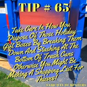 Bolingbrook Dumpster Tip 65