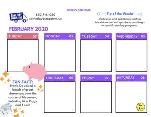 1st Week of February 2020