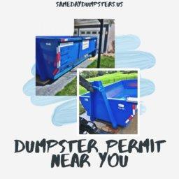 Dumpster Permit Near You