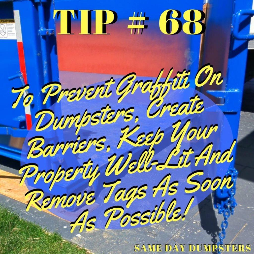 Frankfort Dumpster Tip 68