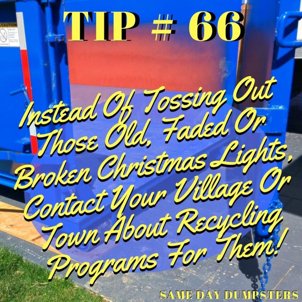 Naperville Dumpster Tip 66