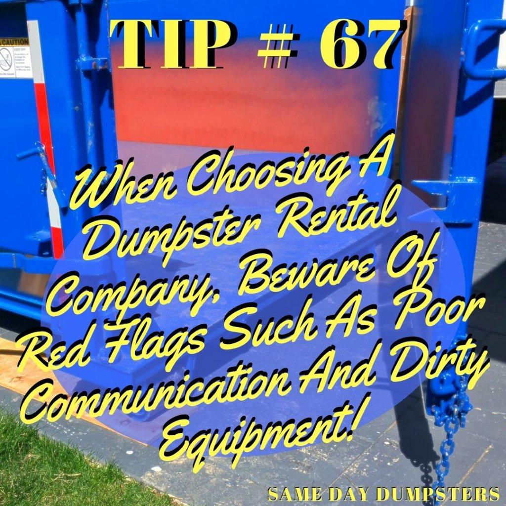 Schaumburg Dumpster Tip 67