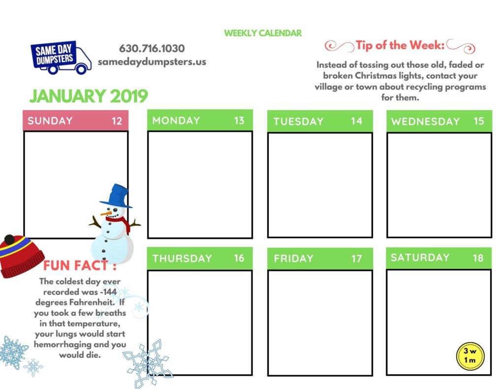 Third Week of January
