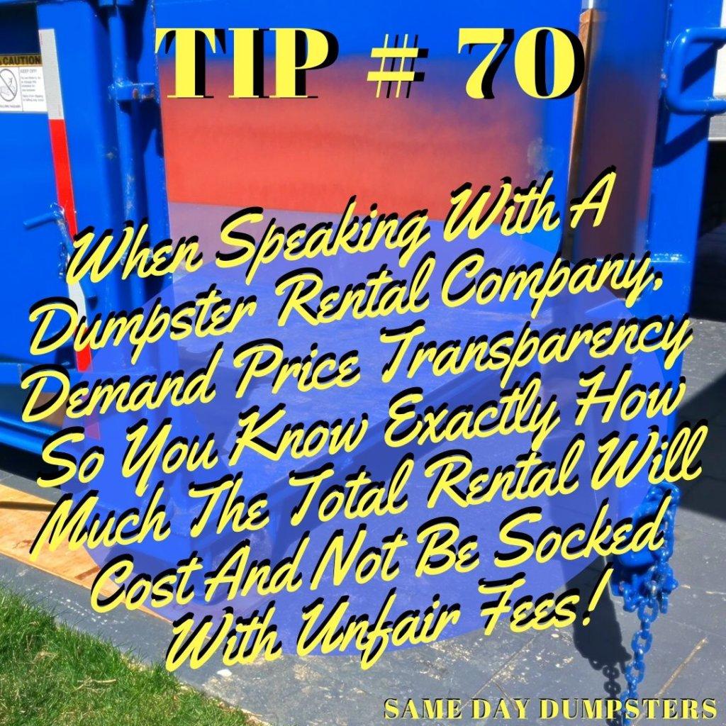 Weekly Dumpster Rental Tips