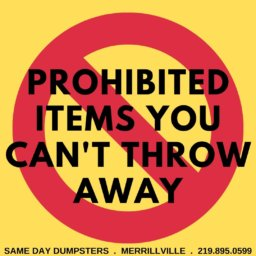 Prohibited Items You Cant Throw Away