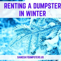 Renting A Dumpster In Winter